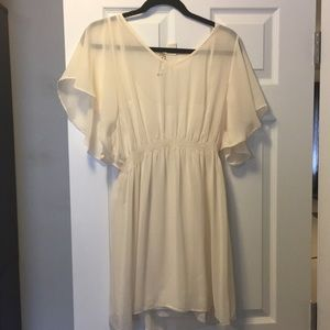 Dresses & Skirts - Off white sheer tunic with camisole